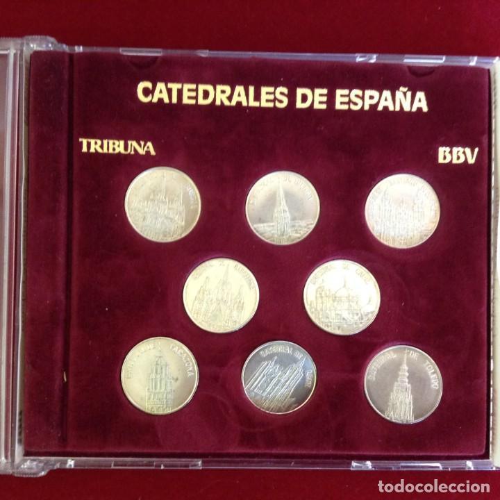 COLECCION 8 MONEDAS DE PLATA - CATEDRALES DE ESPAÑA ***TRIBUNA - BBVA*** (Numismática - España Modernas y Contemporáneas - Colecciones y Lotes de conjunto)