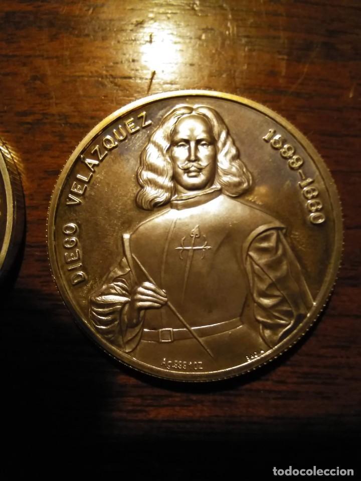 Monedas de España: 2 monedas grandes de plata. Diego Velázquez : La Rendición de Breda y La fragua de Vulcano - Foto 7 - 234604560