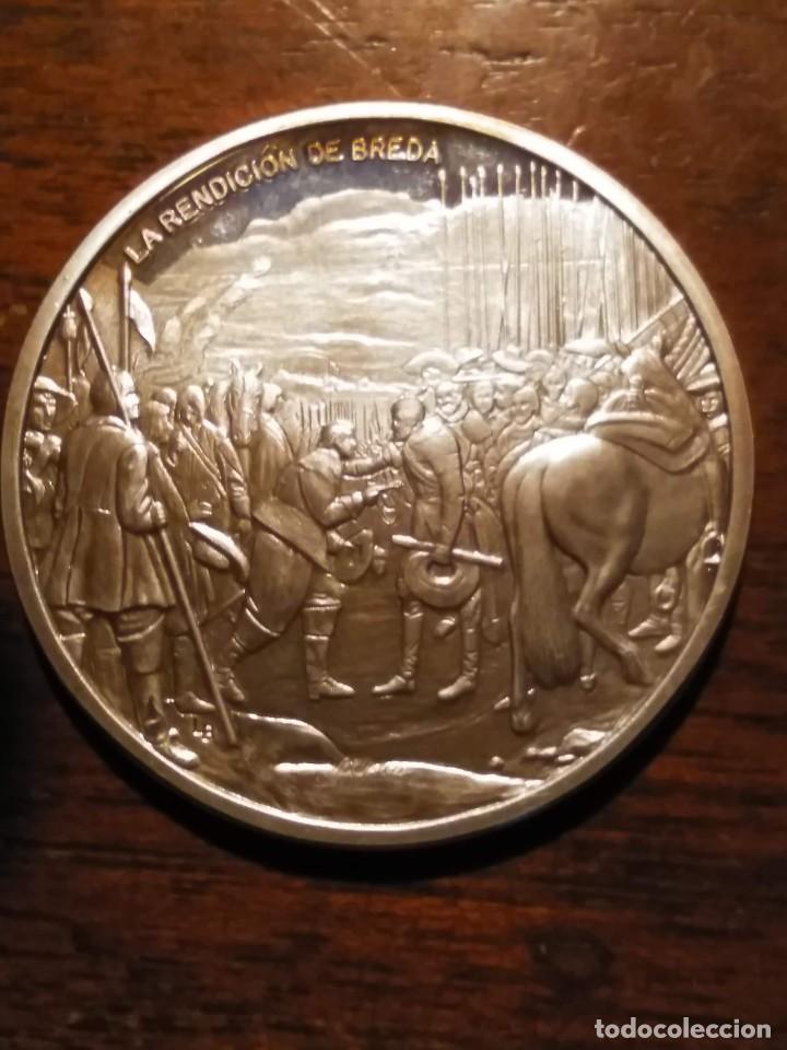 Monedas de España: 2 monedas grandes de plata. Diego Velázquez : La Rendición de Breda y La fragua de Vulcano - Foto 2 - 234604560
