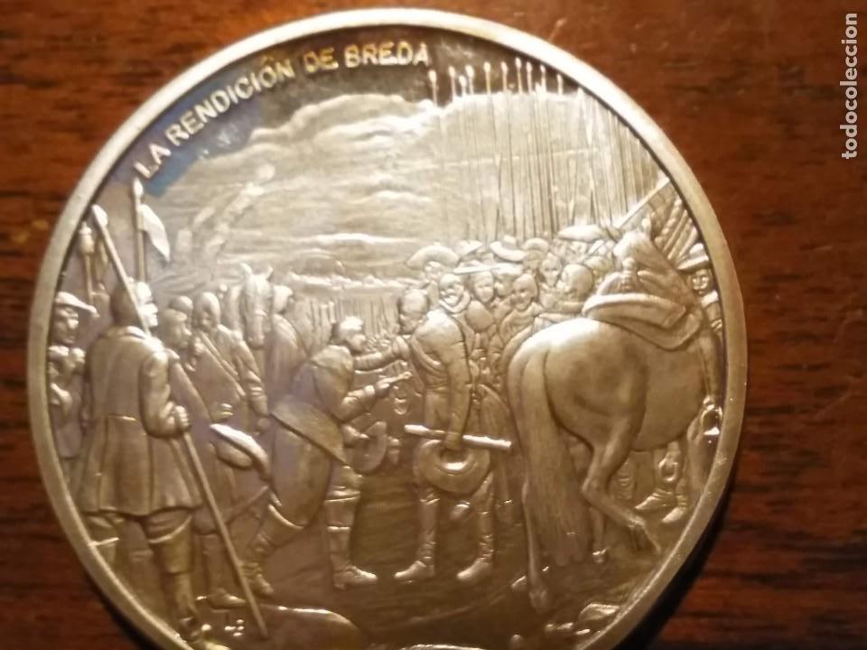 Monedas de España: 2 monedas grandes de plata. Diego Velázquez : La Rendición de Breda y La fragua de Vulcano - Foto 3 - 234604560
