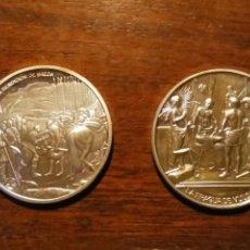 Monedas de España: 2 MONEDAS GRANDES DE PLATA. DIEGO VELÁZQUEZ : LA RENDICIÓN DE BREDA Y LA FRAGUA DE VULCANO. Lote 234604560