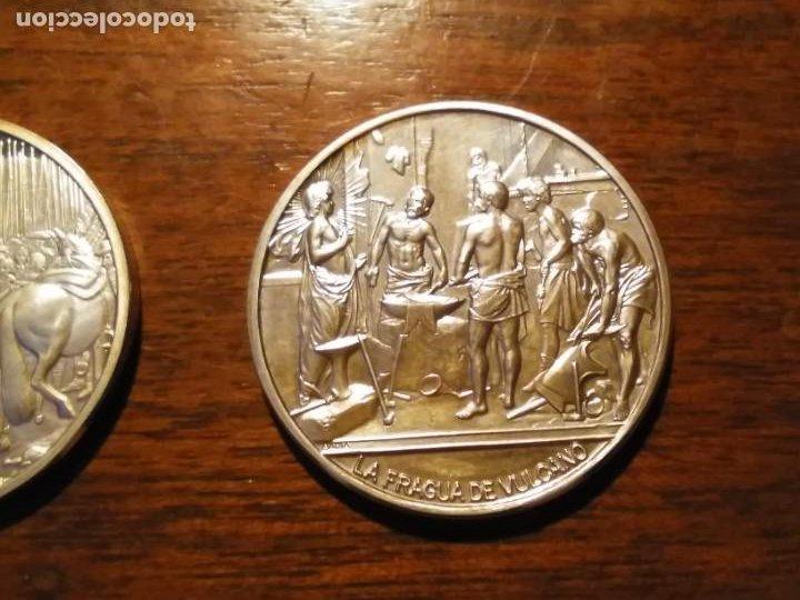 Monedas de España: 2 monedas grandes de plata. Diego Velázquez : La Rendición de Breda y La fragua de Vulcano - Foto 5 - 234604560
