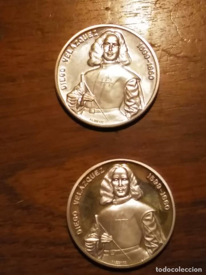 Monedas de España: 2 monedas grandes de plata. Diego Velázquez : La Rendición de Breda y La fragua de Vulcano - Foto 9 - 234604560
