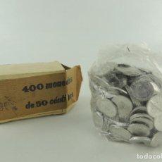 Monedas de España: CAJA CON 400 MONEDAS DE 50 CÉNTIMOS DE ALUMINIO DE FRANCO. Lote 234911900