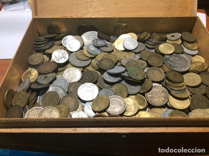 CAJA DE MONEDAS,ESPAÑOLAS ÉPOCAS DE FRANCO Y REY JUAN CARLOS (Numismática - España Modernas y Contemporáneas - Colecciones y Lotes de conjunto)