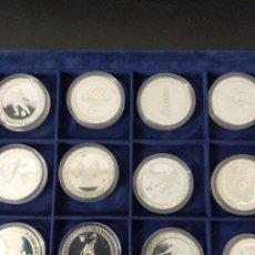Monedas de España: COLECCIÓN MONEDAS OLIMPIADAS ESPAÑA PLATA PURA 12 MONEDAS NUEVAS. Lote 248182705