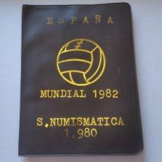 Monedas de España: CARTERA ESPAÑA MUNDIAL FUTBOL 1982 SERIE NUMISMATICA 1980 MONEDAS JUAN CARLOS I. Lote 248465480