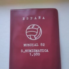 Monedas de España: CARTERA ESPAÑA MUNDIAL FUTBOL 1982 SERIE NUMISMATICA 1980 MONEDAS JUAN CARLOS I. Lote 248466495
