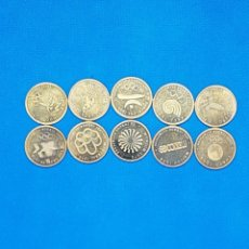 Monedas de España: 10 MONEDAS DE METAL DE SEDES OLIMPICAS. Lote 248834980
