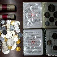 Monedas de España: CONJUNTO DE MONEDAS DE JUAN CARLOS I Y DEL ESTADO ESPAÑOL Y CARTERITAS EN EXCELENTE ESTADO LOTE 3744. Lote 250110380