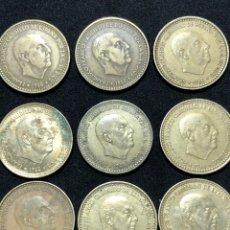 Monedas de España: SERIE COMPLETA DE MONEDAS DE 1 PESETA DE 1966.. Lote 251689665