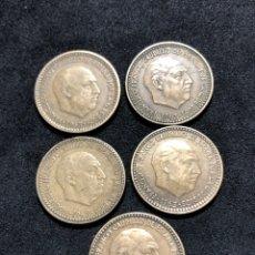 Monedas de España: SERIE COMPLETA DE MONEDAS DE 1 PESETA DE 1963 , INCLUIDA LA ESCASA DEL 67.. Lote 251696875