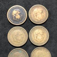 Monedas de España: SERIE COMPLETA DE MONEDAS DE 1 PESETA DE 1953. *54 ,*56 ,*61 ,*62 Y *63. Lote 251739510