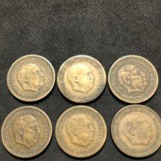 Monedas de España: SERIE DE MONEDAS DE 1 PESETA DE 1947. SERIE PARCIAL.. Lote 251740875