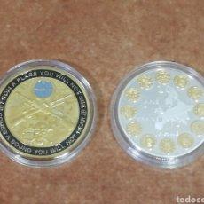 Monedas de España: LOTE DE 2 MONEDAS CONMEMORATIVA FRANCOTIRADOR Y CONMEMORACIÓN AL DÉCIMO ANIVERSARIO DE EUROPA. Lote 254112010