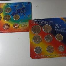 Monedas de España: LOTE ÚLTIMAS PESETAS EN CARTERA Y PRIMERA EMISIÓN EURO. Lote 254212075