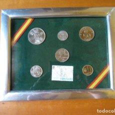 Monedas de España: CUADRO CON MONEDAS Y SELLOS DEL MUNDIAL DE ESPAÑA 82. Lote 254640950