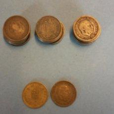 Monedas de España: LOTE DE 25 MONEDAS. FRANCISCO FRANCO CAUDILLO. UNA PESETA.. Lote 254931220