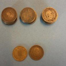 Monedas de España: LOTE DE 25 MONEDAS. FRANCISCO FRANCO CAUDILLO. UNA PESETA.. Lote 254931260