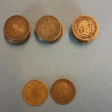 Monedas de España: LOTE DE 25 MONEDAS. FRANCISCO FRANCO CAUDILLO. UNA PESETA.. Lote 254931280