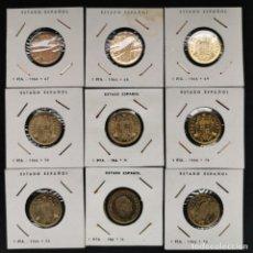 Monedas de España: ⚜️ A1942. SIN CIRCULAR Y PROOF. SERIE COMPLETA 1 PESETA 1966, DE COLECCIÓN VINTAGE. Lote 254943895