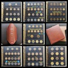 Monedas de España: ⚜️ S2230. (OJO: SÁBADO 22:30H). PEDAZO COLECCIÓN FRANCO EN ÁLBUM PARDO. TODO MUY NUEVO. 1392G. Lote 255949975