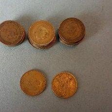 Monedas de España: LOTE DE 25 MONEDAS. FRANCISCO FRANCO CAUDILLO. UNA PESETA.. Lote 257622520
