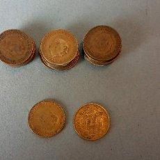 Monedas de España: LOTE DE 25 MONEDAS. FRANCISCO FRANCO CAUDILLO. UNA PESETA.. Lote 257622570