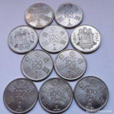 Monete di Spagna: ⚜️ A2025. LOTE PARA PROFESIONAL. 10 PIEZAS DE 100 PESETAS JUAN CARLOS I. BUENOS EJEMPLARES. 169G. Lote 260393930