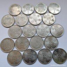 Monedas de España: ⚜️ A1945. LOTE PARA PROFESIONAL. 20 PIEZAS DE 100 PESETAS JUAN CARLOS I. BUENOS EJEMPLARES. 338G. Lote 260394190