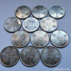 Monedas de España: ⚜️ A1913. EJEMPLARES TOP!!! LOTE PARA PROFESIONAL. 12 PIEZAS DE 100 PESETAS JUAN CARLOS I. 192G. Lote 260394480