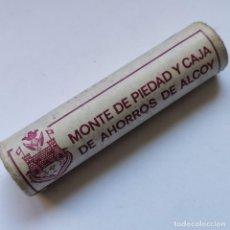 Monedas de España: ⚜️ A1934. CARTUCHO SIN CIRCULAR. 50 PIEZAS 1 PESETA 1982. MONTE PIEDAD ALCOY. 60G. Lote 260396385