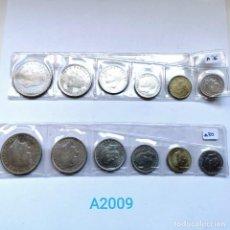 Monete di Spagna: ⚜️ A2009. SERIES DE 1975 *76 Y 1980 *80 EN TIRA. Lote 260442155