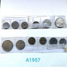 Monete di Spagna: ⚜️ A1957. DOS TIRAS VINTAGE DE FRANCO. Lote 260442220