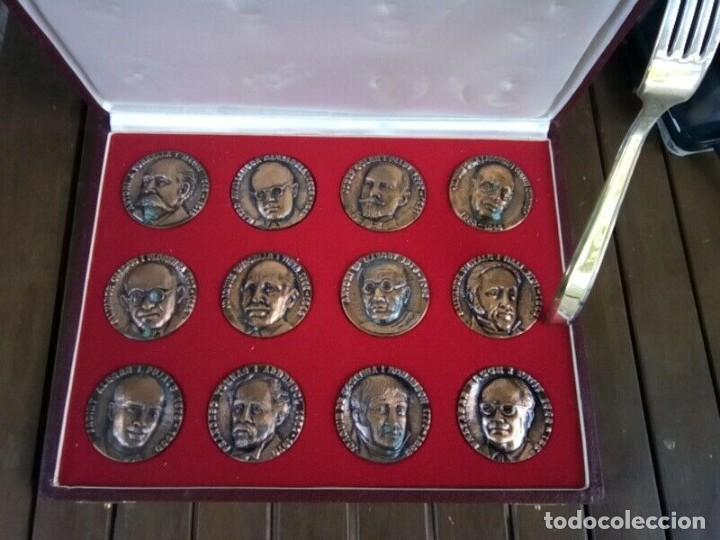 Monedas de España: TERRASSA ESTUCHE DE 12 MEDALLAS COBRE DE PERSONAJES VER FOTOS - Foto 4 - 260734420