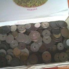 Monedas de España: CAJA CON MONEDA ESPAÑOLA CIRCULADA , INTERESANTE. Lote 261176220