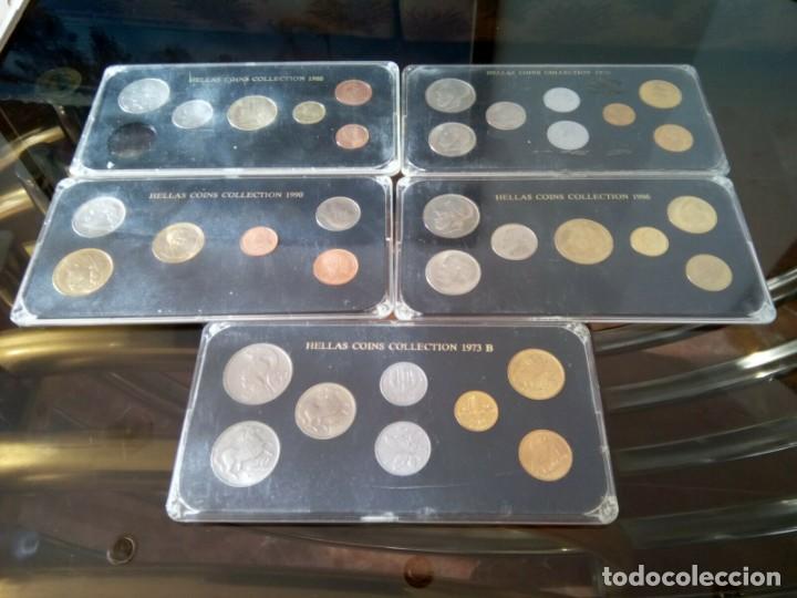 5 ESTUCHES MONEDAS GRECIA DIFERENTES AÑOS , LIQUIDACION (Numismática - España Modernas y Contemporáneas - Colecciones y Lotes de conjunto)