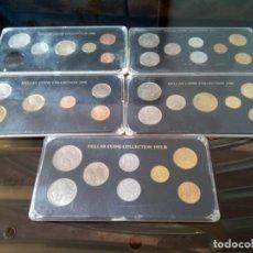 Monedas de España: 5 ESTUCHES MONEDAS GRECIA DIFERENTES AÑOS , LIQUIDACION. Lote 261192400