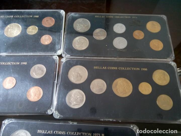 Monedas de España: 5 ESTUCHES MONEDAS GRECIA DIFERENTES AÑOS , LIQUIDACION - Foto 3 - 261192400