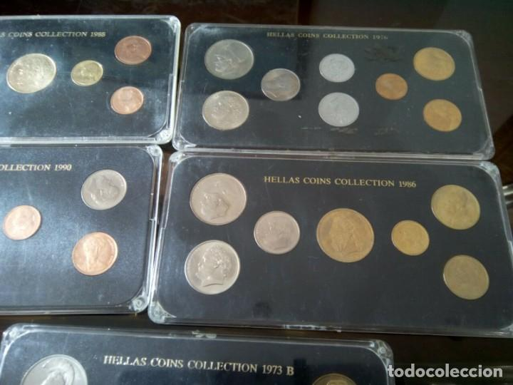 Monedas de España: 5 ESTUCHES MONEDAS GRECIA DIFERENTES AÑOS , LIQUIDACION - Foto 4 - 261192400