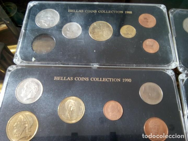Monedas de España: 5 ESTUCHES MONEDAS GRECIA DIFERENTES AÑOS , LIQUIDACION - Foto 5 - 261192400