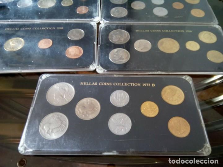 Monedas de España: 5 ESTUCHES MONEDAS GRECIA DIFERENTES AÑOS , LIQUIDACION - Foto 6 - 261192400