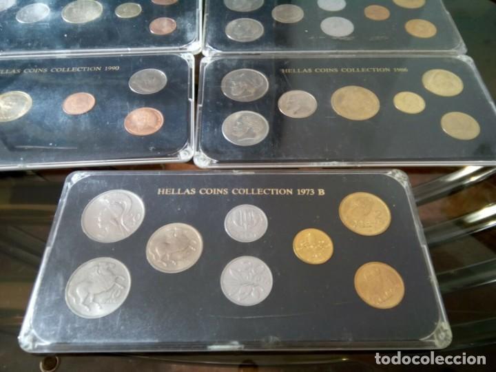 Monedas de España: 5 ESTUCHES MONEDAS GRECIA DIFERENTES AÑOS , LIQUIDACION - Foto 7 - 261192400
