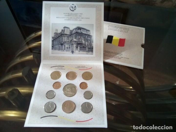 CARTERA MONEDAS BELGICA AÑO 1989 COMPLETO , LIQUIDACION (Numismática - España Modernas y Contemporáneas - Colecciones y Lotes de conjunto)