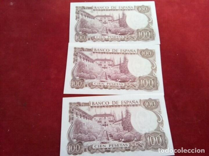 Monedas de España: 3 BILLETES DE 100 PTS 1970 , MANUEL DE FALLA , SIN CIRCULAR Y CORRELATIVOS - Foto 3 - 261214115