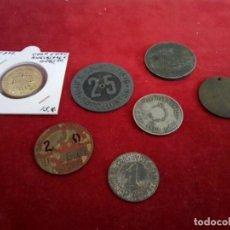 Monedas de España: LOTE DE 7 MONEDAS COOPERATIVAS , FICHAS NECESIDAD ETC.... Lote 261233980