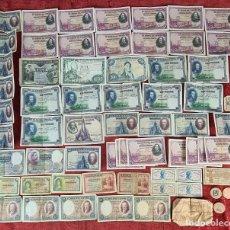 Monedas de España: COLECCION DE 77 BILLETES. ESPAÑA. VARIAS EPOCAS. VER DESCRIPCION. 1906-1965.. Lote 261704565