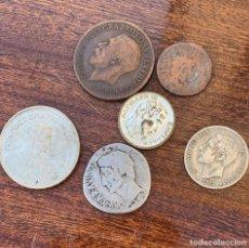 Monedas de España: LOTE ANTIGUO DE MONEDAS Y REPLICAS LAS DE LA FOTO. Lote 261786970