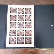 Monedas de España: COLECCION COMPLETA MEDALLAS BRONCE HISTORIA FERROCARRILES ESPAÑOLES. Lote 262253135
