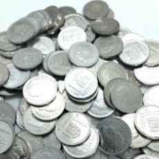 Monedas de España: 100 MONEDAS DE 1 PESETA DE ALUMINIO REY JUAN CARLOS 1º. PRECIO ESPECIAL REVENDEDOR,LIQUIDACIÓN STOCK. Lote 263006700